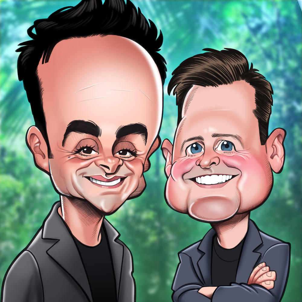 Ant and Dec Birthday Greeting Sound Card Blank Inside