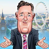 Piers Morgan Birthday Greeting Sound Card Blank Inside