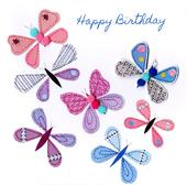 Butterflies Bright & Breezy Birthday Greeting Card