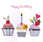 Cupcakes Bright & Breezy Birthday Greeting Card