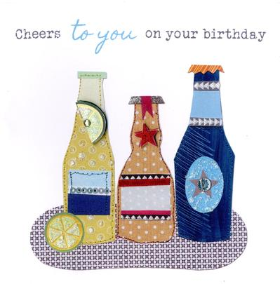Beer Bright & Breezy Birthday Greeting Card