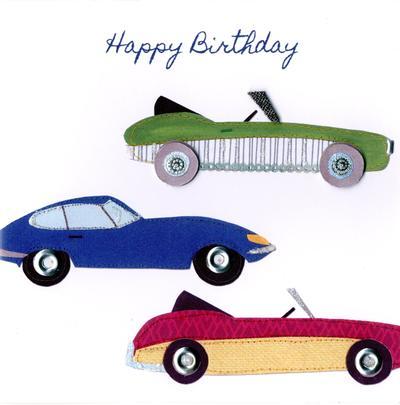 Sports Cars Bright & Breezy Birthday Greeting Card