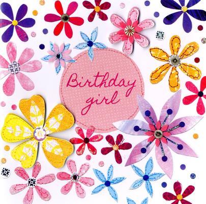 Flowers Bright & Breezy Birthday Greeting Card