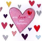 Love Hearts Bright & Breezy Birthday Greeting Card