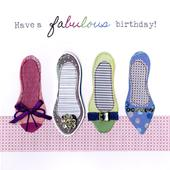 Fabulous Shoes Bright & Breezy Birthday Greeting Card