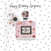 Hand-Finished Perfume Birthday Greeting Card