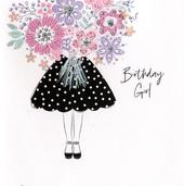 Hand-Finished Birthday Girl Greeting Card