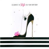 Hand-Finished Stiletto Shoes Birthday Greeting Card