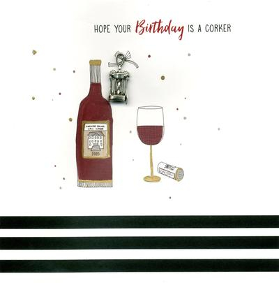 Hand-Finished Corker Birthday Greeting Card