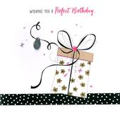 Hand-Finished Wrapped Love Gift Birthday Greeting Card