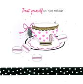 Hand-Finished Teacup With Love Birthday Greeting Card