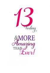 Girls 13th Birthday Greeting Card