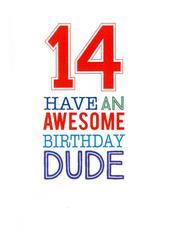 Boys14th Birthday Greeting Card