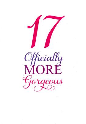 Girls 17th Birthday Greeting Card