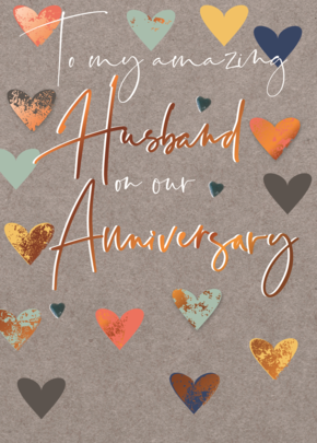 Amazing Husband On Our Anniversary Greeting Card