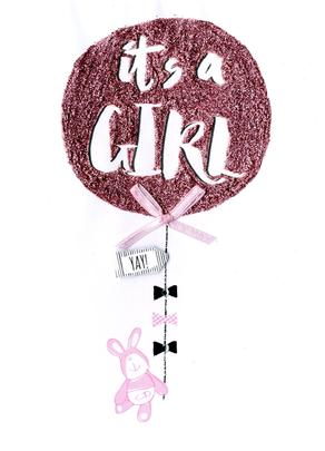 It's A Girl New Baby Greeting Card