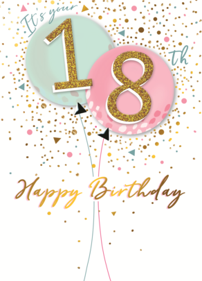 Its Your 18th Birthday Greeting Card