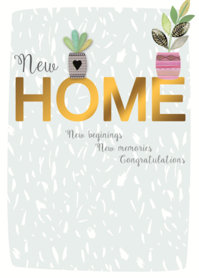 Congratulations New Home Greeting Card