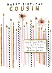 Happy Birthday Cousin Greeting Card