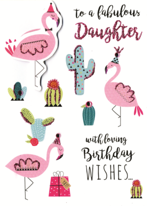 Fabulous Daughter Birthday Greeting Card