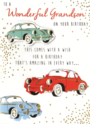 To A Wonderful Grandson On Your Birthday Greeting Card