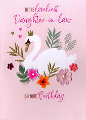 Loveliest Daughter-In-Law Birthday Greeting Card