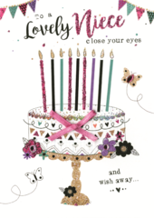 To A Lovely Niece Birthday Greeting Card