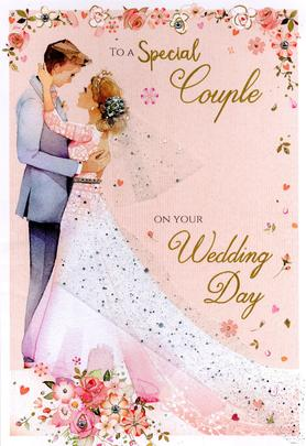 Magnifique A Special Couple On Your Wedding Day Greeting Card