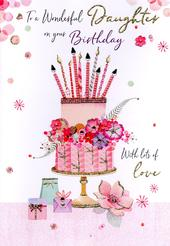 Magnifique Wonderful Daughter On Your Birthday Greeting Card