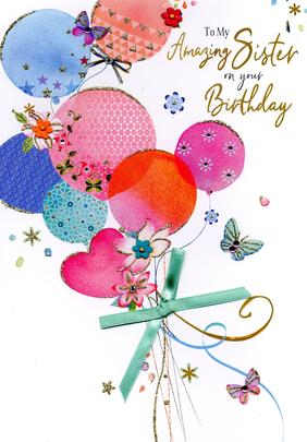 Magnifique Amazing Sister On Your Birthday Greeting Card