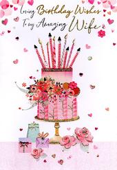 Magnifique Amazing Wife On Your Birthday Greeting Card