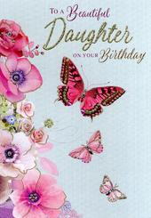 Magnifique Beautiful Daughter On Your Birthday Greeting Card