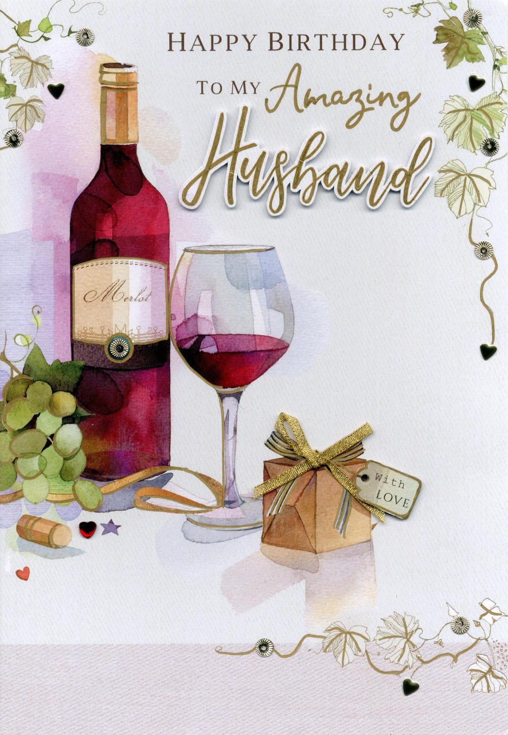 Magnifique Amazing Husband Birthday Greeting Card