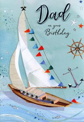 Magnifique Dad On Your Birthday Greeting Card