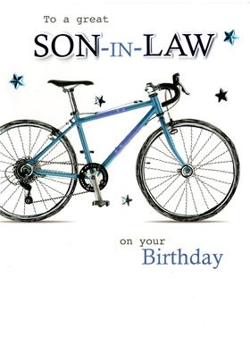 Great Son-In-Law Embellished Birthday Greeting Card