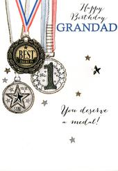 Grandad Best There Is Embellished Birthday Greeting Card