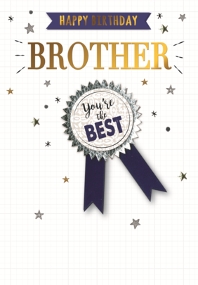 Brother You're The Best Embellished Birthday Greeting Card