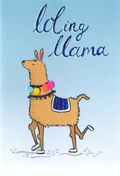 Loling Llama  Any Occasion Greeting Card