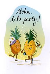 Aloha, Let's Party! Any Occasion Greeting Card
