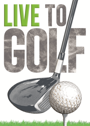 Live To Golf Birthday Greeting Card