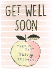 Get Well Soon Take It Easy Gigantic Greeting Card  A4 Sized Cards