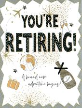 You're Retiring  Gigantic Greeting Card  A4 Sized Cards
