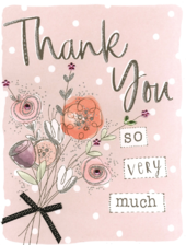 Thank You So Very Much Gigantic Greeting Card  A4 Sized Cards
