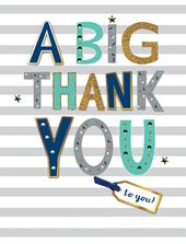 A Big Thank You To You Gigantic Greeting Card  A4 Sized Cards