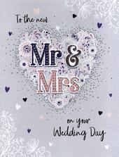 The New Mr & Mrs On Your Wedding Day Gigantic Card  A4 Sized Cards