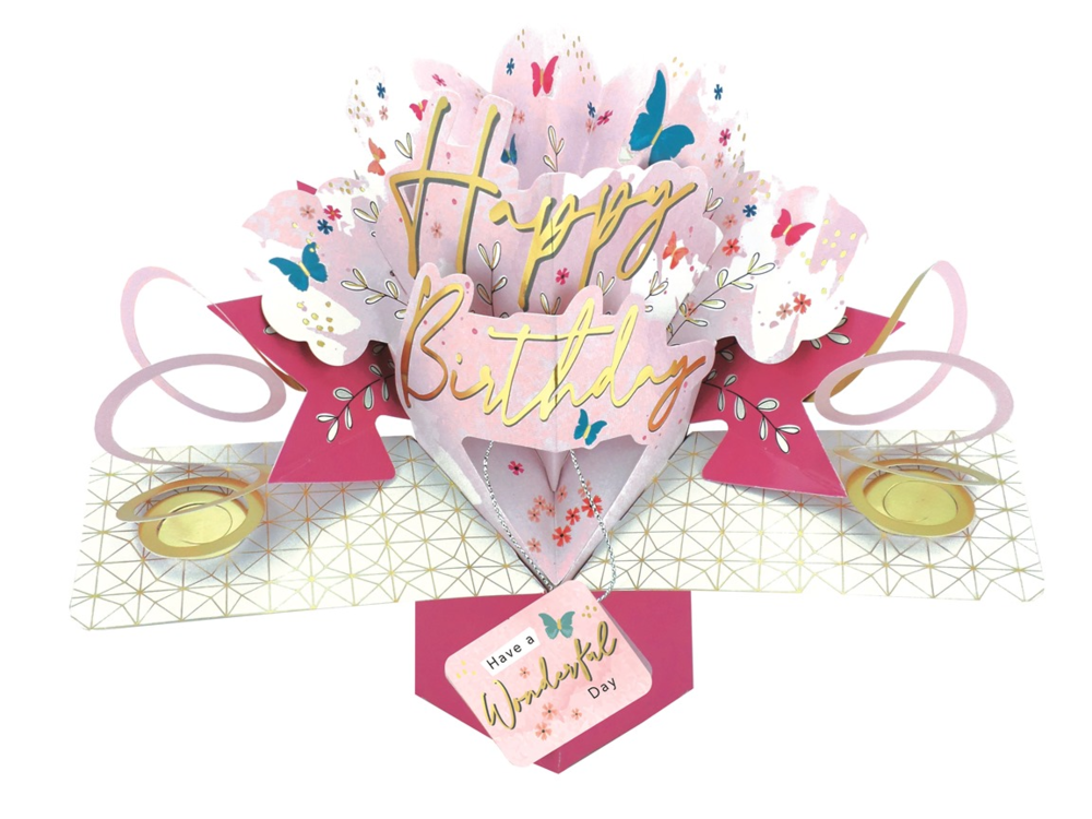 Female Happy Birthday Pop-Up Greeting Card