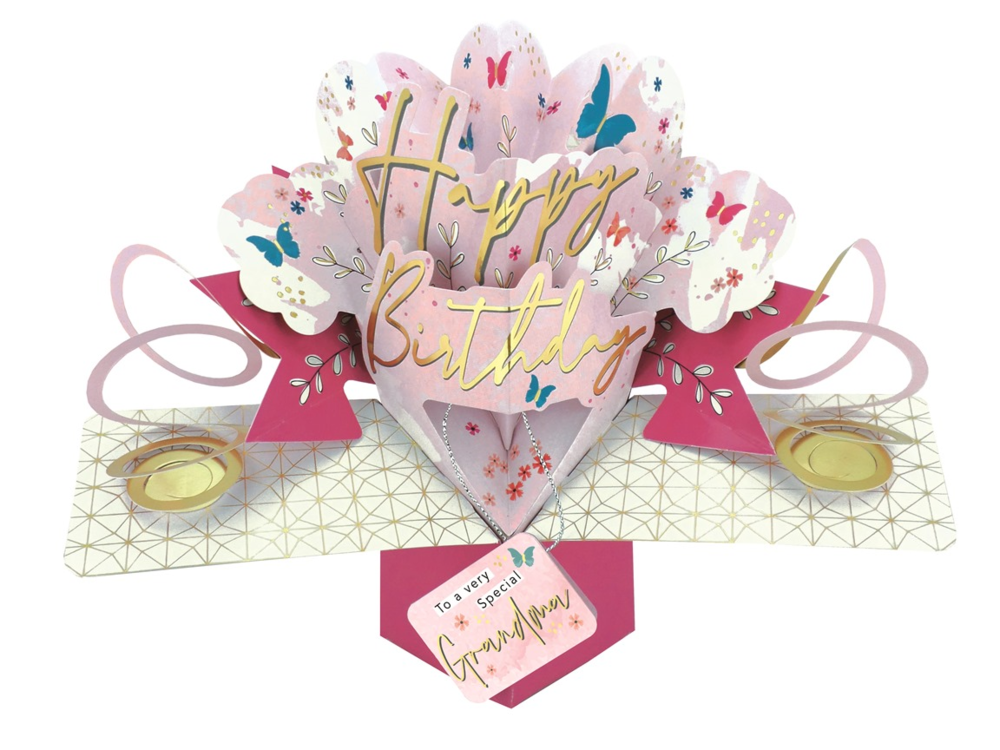 Special Grandma Happy Birthday Pop-Up Greeting Card