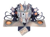 Best Dad Happy Birthday Pop-Up Greeting Card