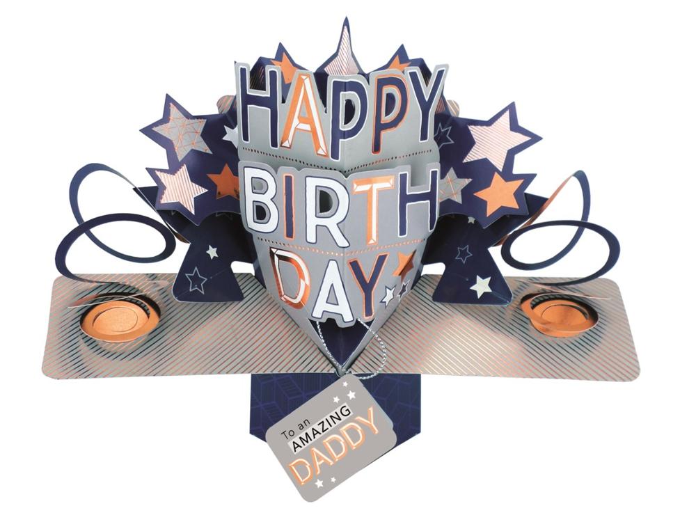 Amazing Daddy Happy Birthday Pop-Up Greeting Card