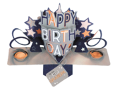 Best Grandpa Happy Birthday Pop-Up Greeting Card